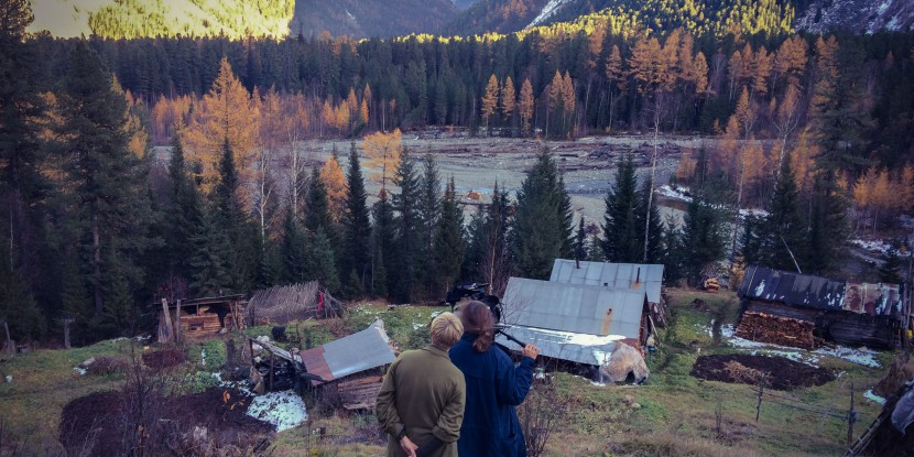 Rebecca (dir) and Sarah(DP) overlookig Agafya;s homestead